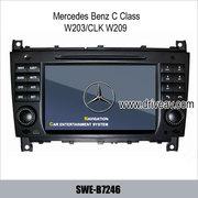 Benz C-Class W203/CLK W209 stereo radio car DVD GPS Navigation TV SWE-